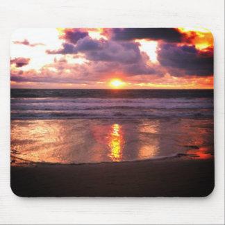 Puesta del sol de Marina Del Rey Tapete De Ratones