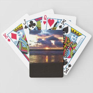Puesta del sol de Marina Del Rey Baraja Cartas De Poker