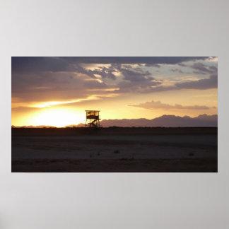 Puesta del sol de McGregor del campo Posters
