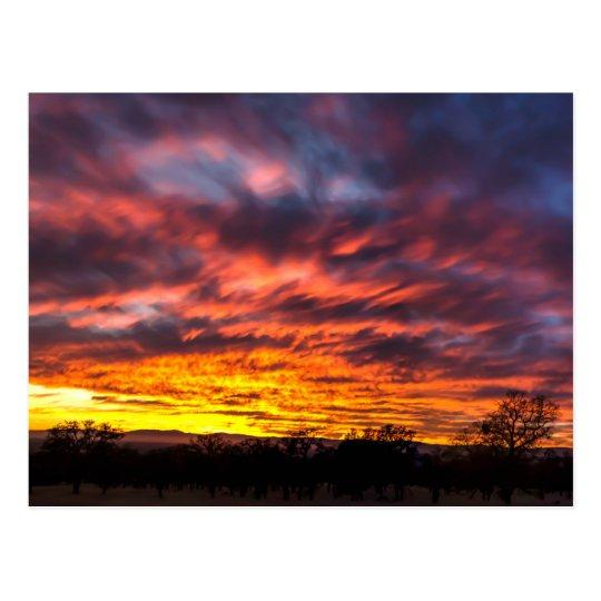 Puesta del sol de noviembre postal
