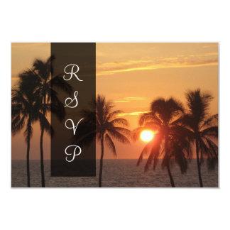 Puesta del sol de PixDezines en la playa de Mauna Invitación 8,9 X 12,7 Cm