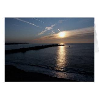 Puesta del sol de Santa Cruz Tarjeta De Felicitación