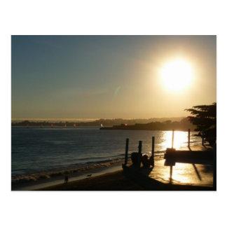 Puesta del sol de Santa Cruz Tarjeta Postal