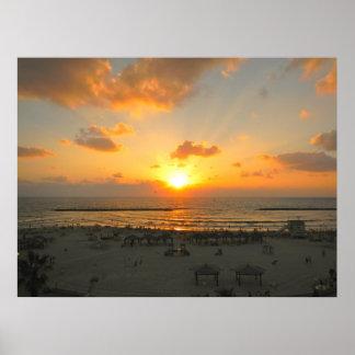Puesta del sol de Tel Aviv Póster