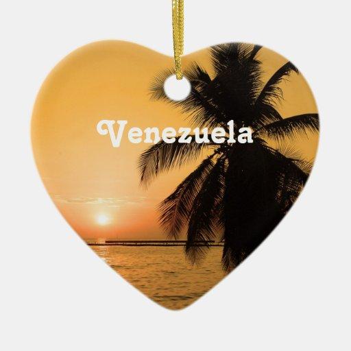 Puesta del sol de Venezuela Adorno