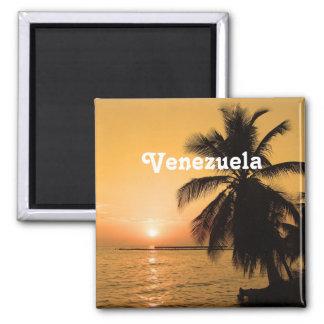 Puesta del sol de Venezuela Imán Cuadrado