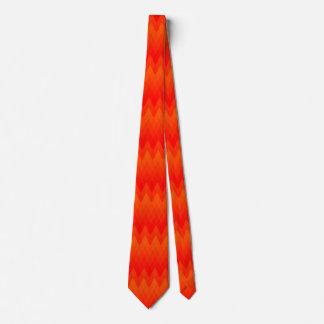 Puesta del sol del diamante corbatas personalizadas