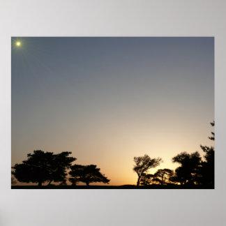 Puesta del sol del EL Dorado Póster
