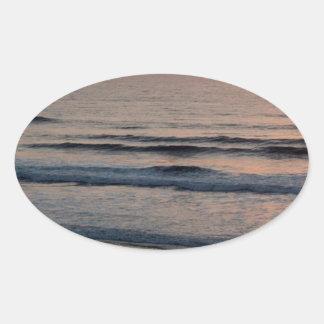 Puesta del sol Del Mar California Pegatina