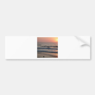 Puesta del sol Del Mar California Etiqueta De Parachoque