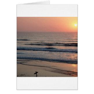 Puesta del sol Del Mar California Tarjetas