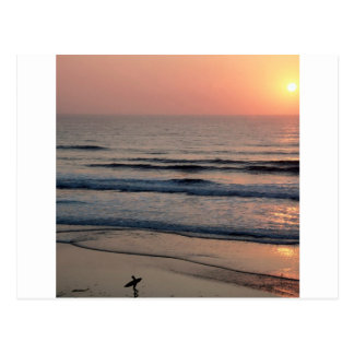 Puesta del sol Del Mar California Tarjetas Postales