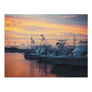 Puesta del sol del puerto deportivo de Aransas del