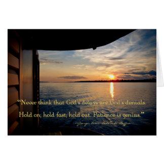 Puesta del sol del río Amazonas con cita inspirada Tarjeta Pequeña