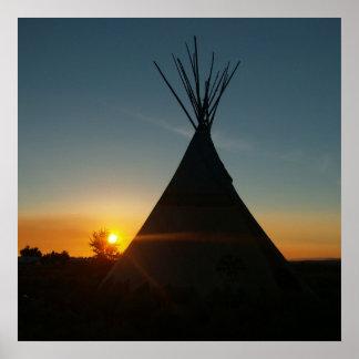 Puesta del sol del sudoeste póster