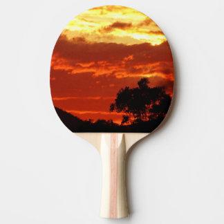 Puesta del sol del verano de Canberra Pala De Ping Pong