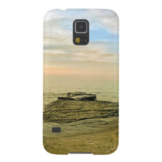 Puesta del sol del verano del lago Erie Carcasa Galaxy S5