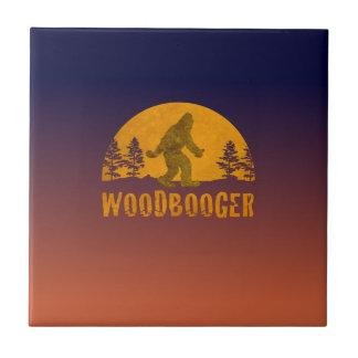 Puesta del sol del vintage de Woodbooger Azulejo De Cerámica