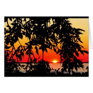 Puesta del sol del Winnebago del lago que piensa Tarjeta De Felicitación