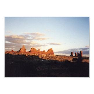Puesta del sol en arcos, Utah Invitación 12,7 X 17,8 Cm