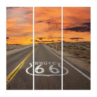 Puesta del sol en Arizona en arte de la pared de