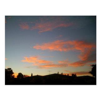 Puesta del sol en Campbell, California Postales