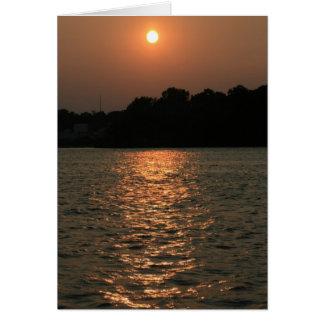 Puesta del sol en Delaware Tarjeta