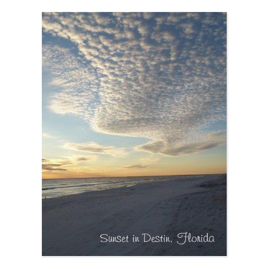 Puesta del sol en Destin, postal de la Florida