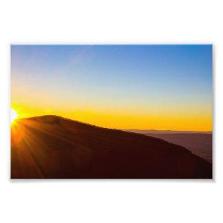 Puesta del sol en el parque nacional de foto