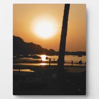 Puesta del sol en Goa Placa Expositora