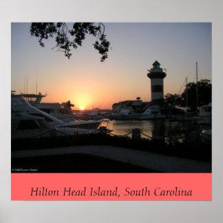 Puesta del sol en Hilton Head Island Póster