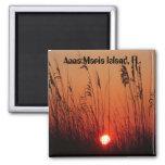 Puesta del sol en la isla de Ana Maria, FL., imán