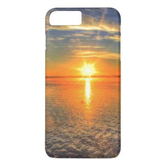 Puesta del sol en la playa funda iPhone 7 plus
