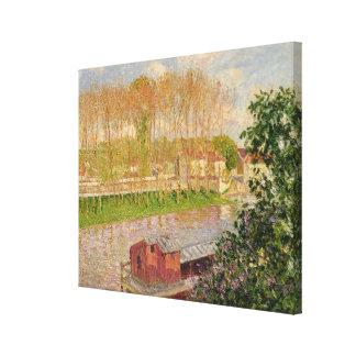 Puesta del sol en Moret-sur-Loing, 1901 Lienzo Envuelto Para Galerias
