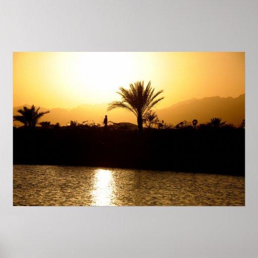 Puesta del sol en Sharm el Sheikh, Egipto Posters