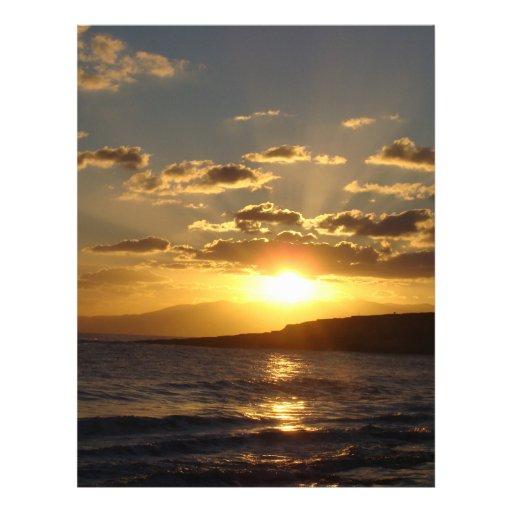 Puesta del sol tarjeta publicitaria