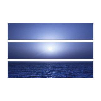 Puesta del sol fresca impresión en lienzo