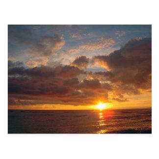 Puesta del sol hermosa de Maui Postal