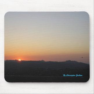 Puesta del sol hermosa en Los Ángeles Alfombrilla De Ratón