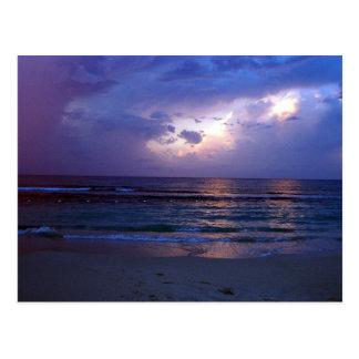 Puesta del sol jamaicana postal