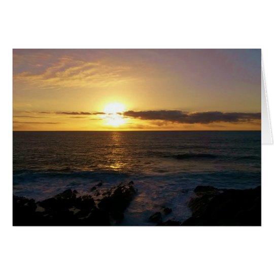 Puesta del sol Newquay Cornualles Inglaterra Tarjeta De Felicitación