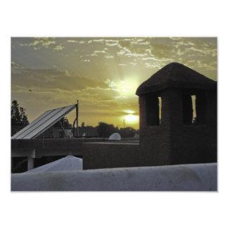 Puesta del sol arte fotográfico