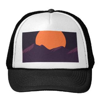 Puesta del sol púrpura del pixel gorros