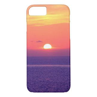 Puesta del sol púrpura funda iPhone 7