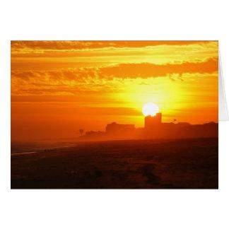Puesta del sol que pasa por alto Emerald Isle Tarjeta Pequeña