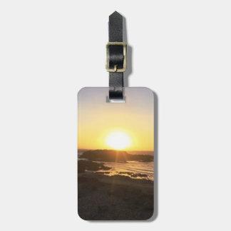 Puesta del sol romántica el || Pescadero, CA el || Etiqueta Para Maletas