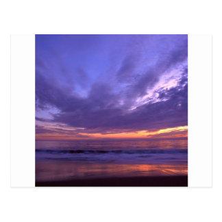 Puesta del sol Seabright Santa Cruz California Postal