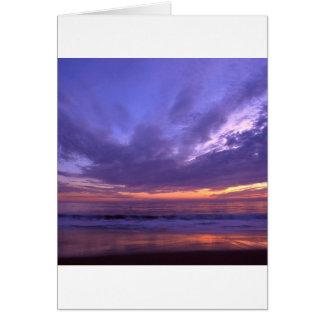 Puesta del sol Seabright Santa Cruz California Tarjetas