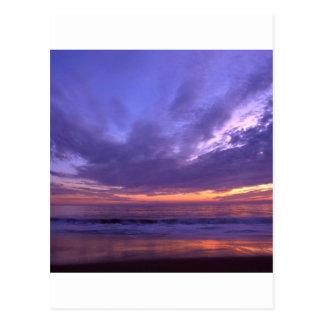 Puesta del sol Seabright Santa Cruz California Tarjetas Postales