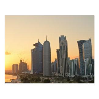 Puesta del sol sobre Doha, Qatar